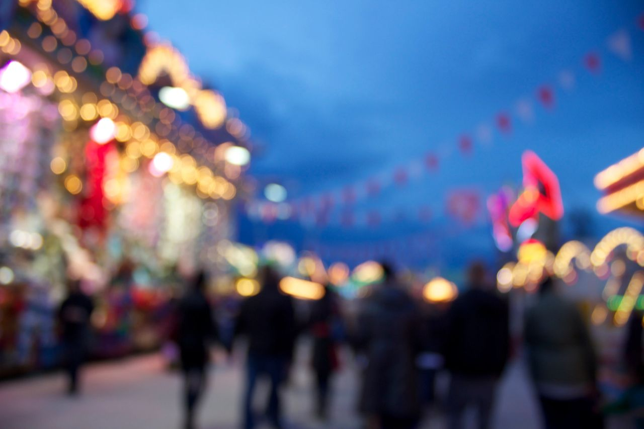 Blurred photo of a festival