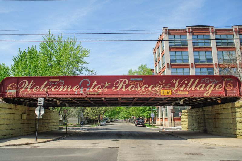 Roscoe Village bridge