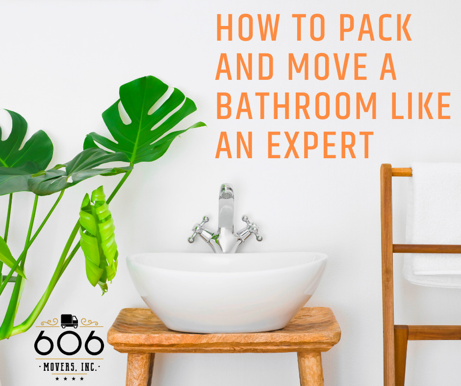 How to pack and move a bathroom like an expert